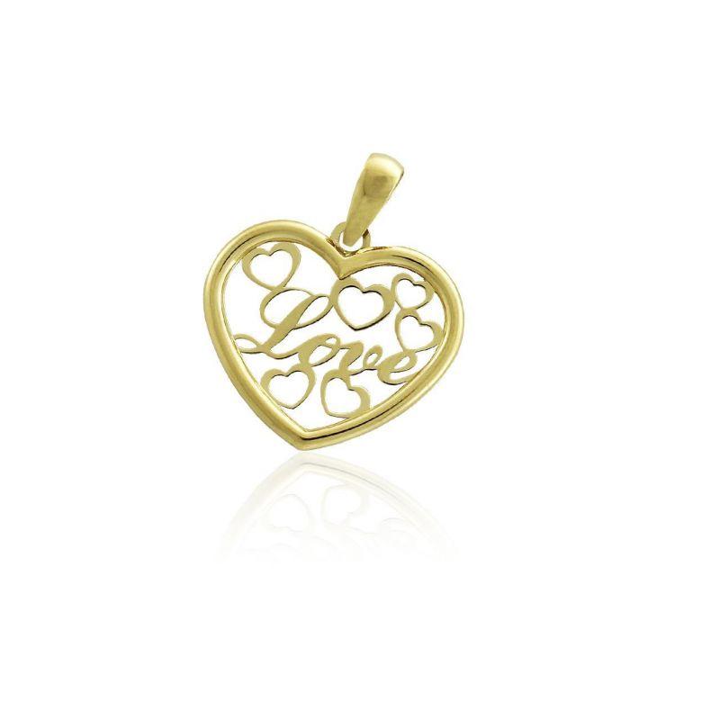 Colgante Oro 18k corazones love Roselin