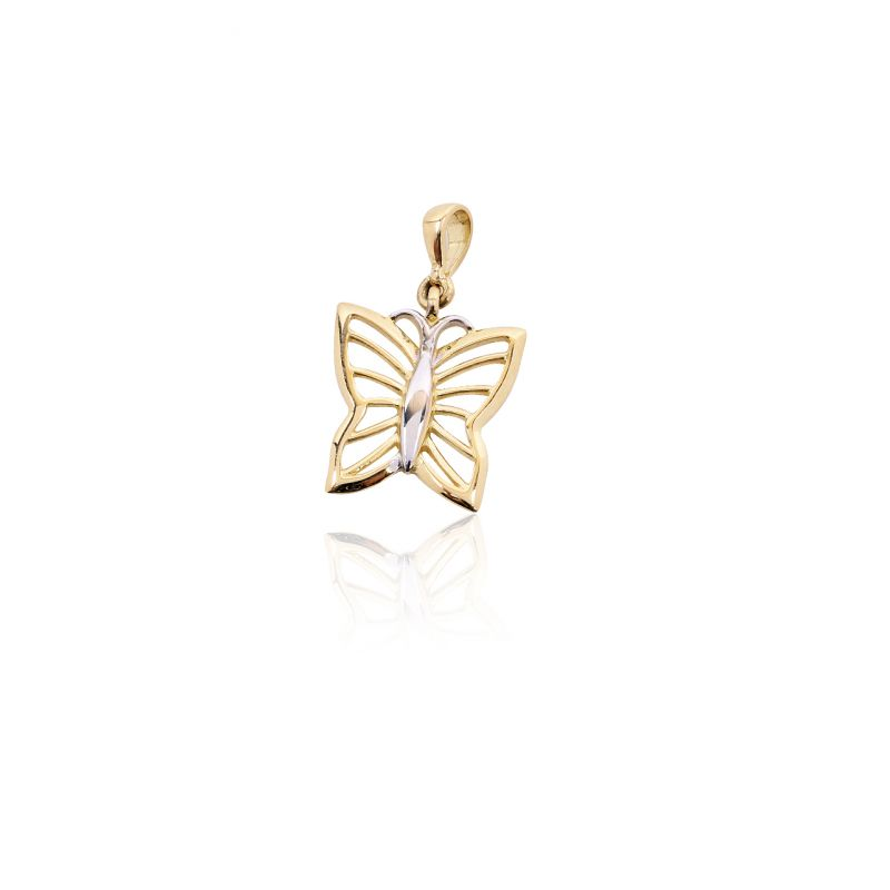 Colgante Oro 18kts mariposa