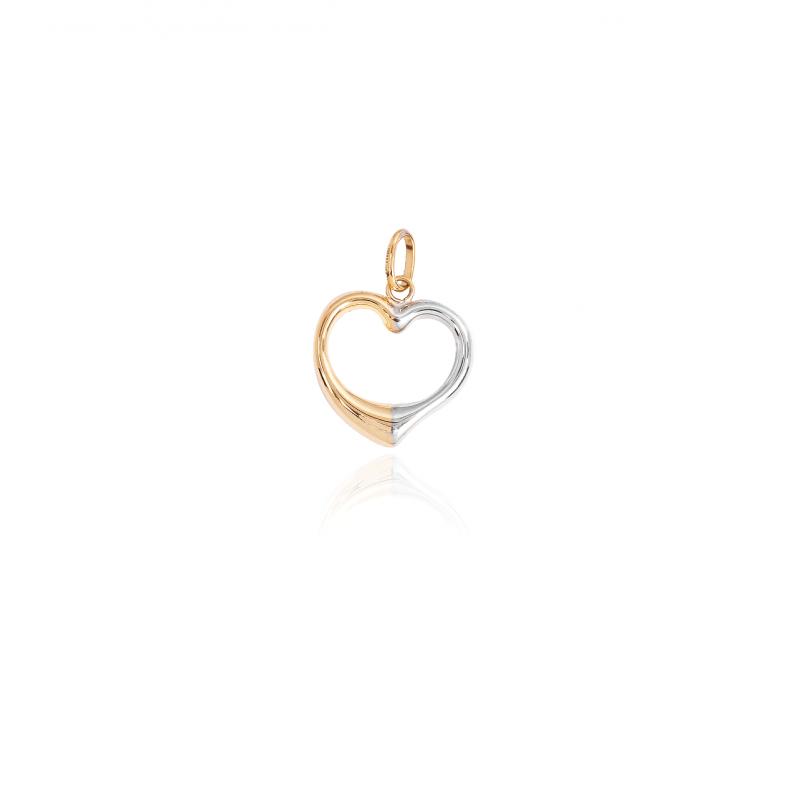 Colgante Oro 18k bicolor corazón