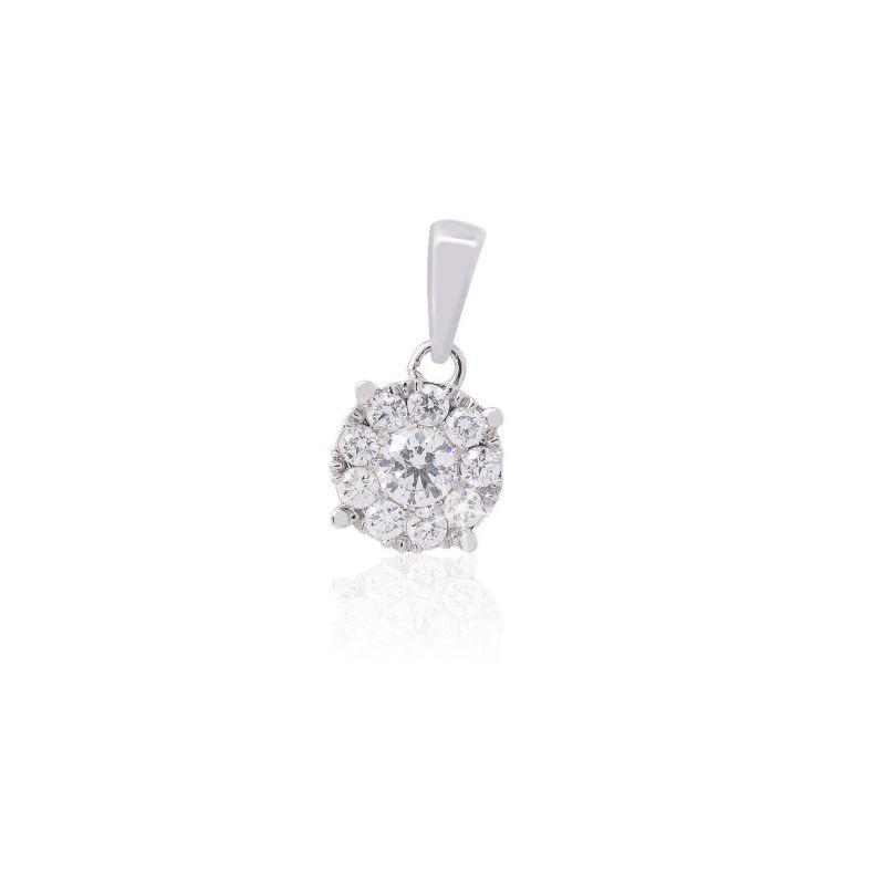Colgante Oro blanco 18kts y diamantes