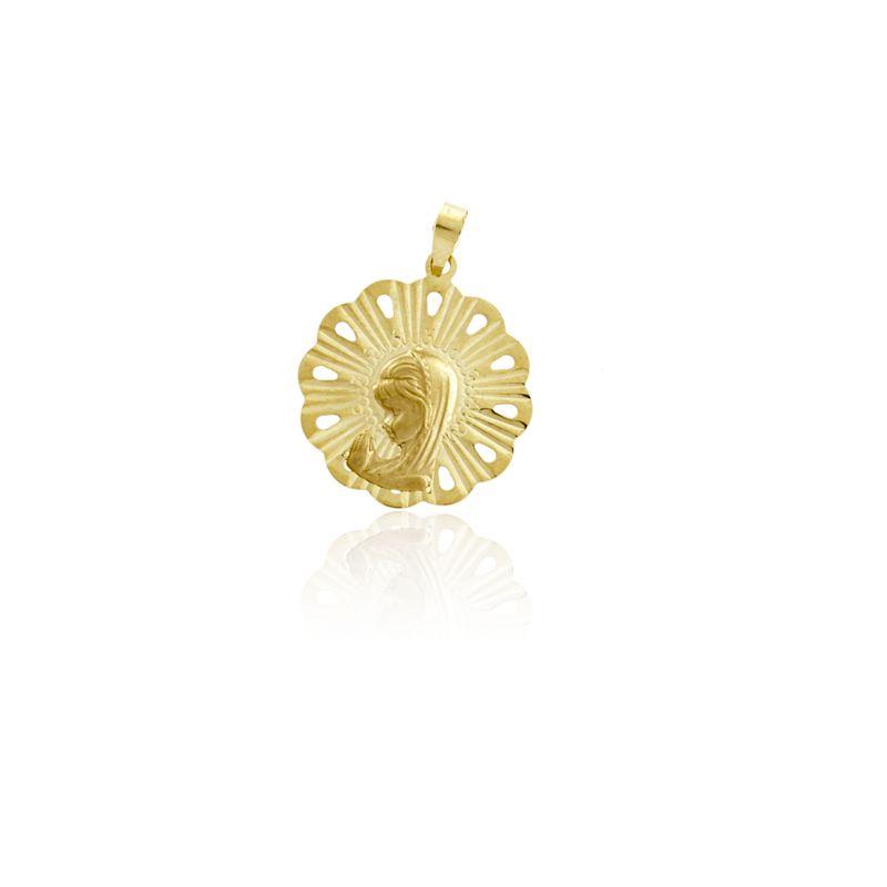 Colgante medalla virgen Oro 9k Roselin