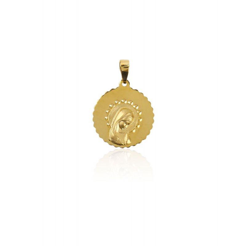 Colgante Oro 9k Virgen niña liso troquelado
