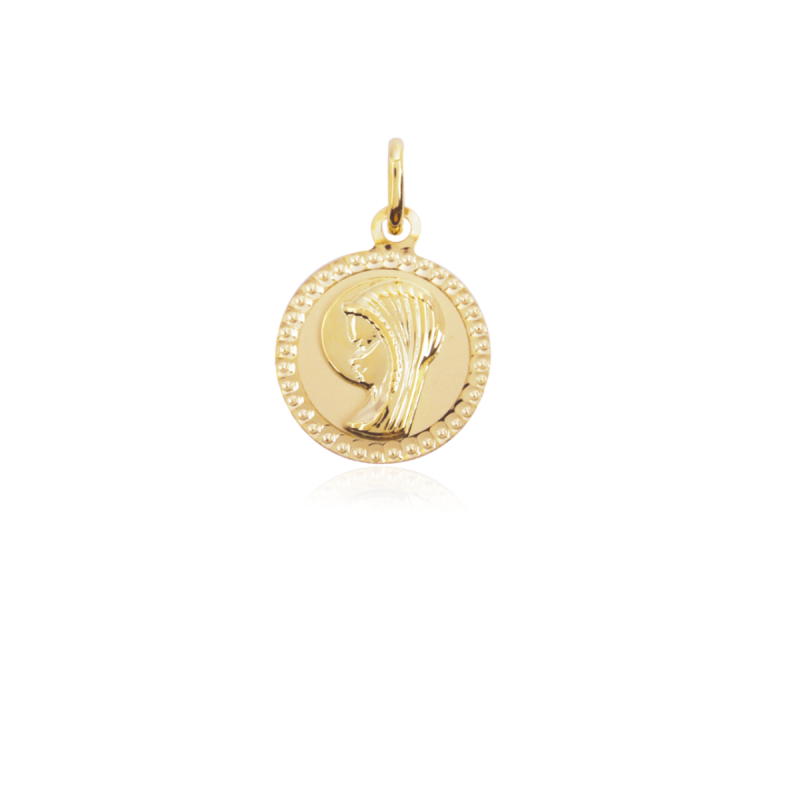 Medalla virgen niña oro 9k