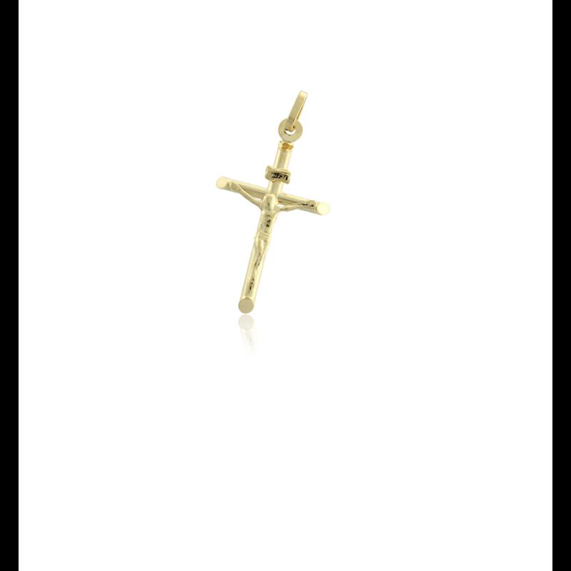 Cruz Cristo oro 9k