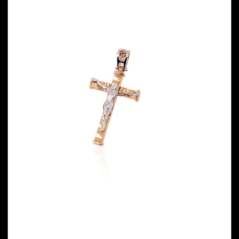 Colgante Oro 9k cristo bicolor