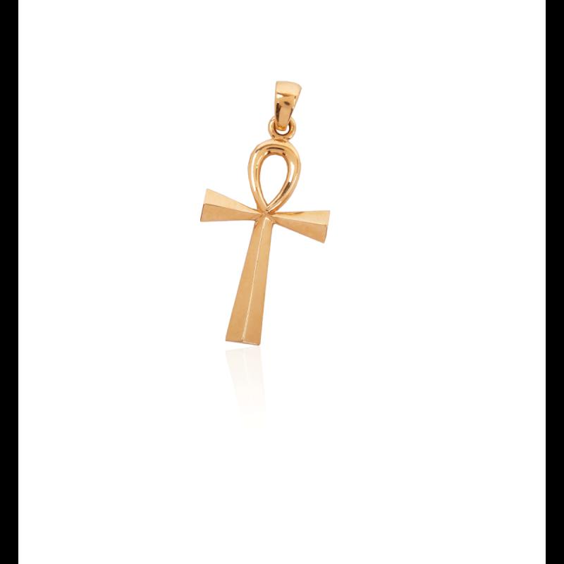 Colgante Oro 9k Cruz de la Vida