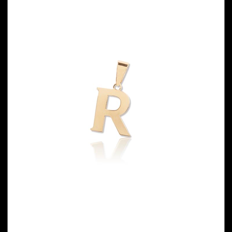 Colgante Letra Oro 9k