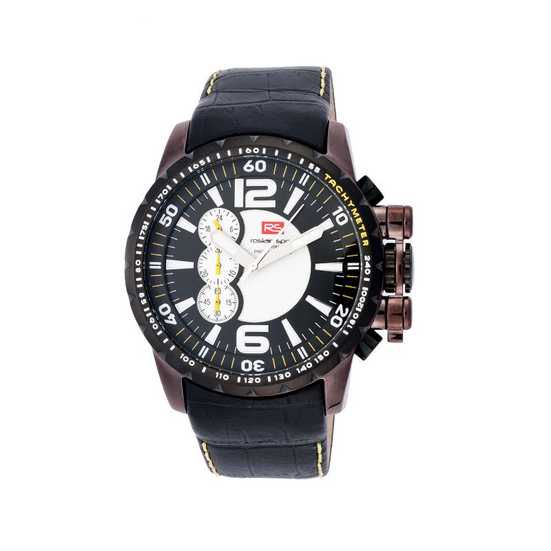Reloj acero y piel cronógrafo RS Roslain Sport