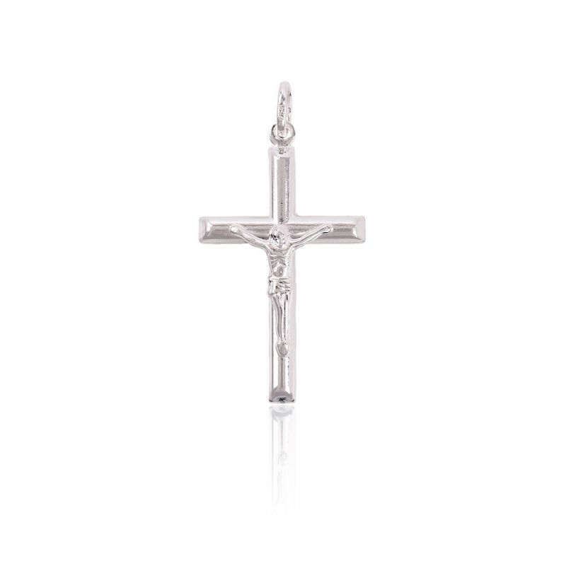 Cruz Plata de Ley Cristo tubo