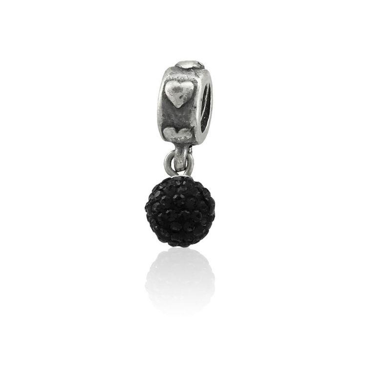 Abalorio plata bola piedras