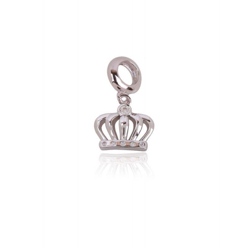 Abalorio plata corona