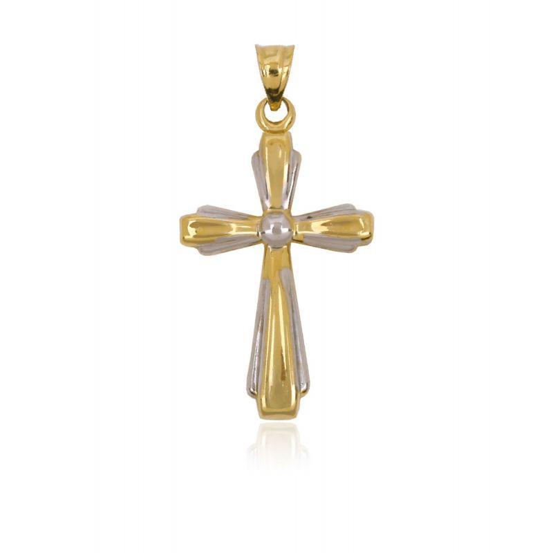 Cruz Oro y Plata Cruz Bicolor Gallonada