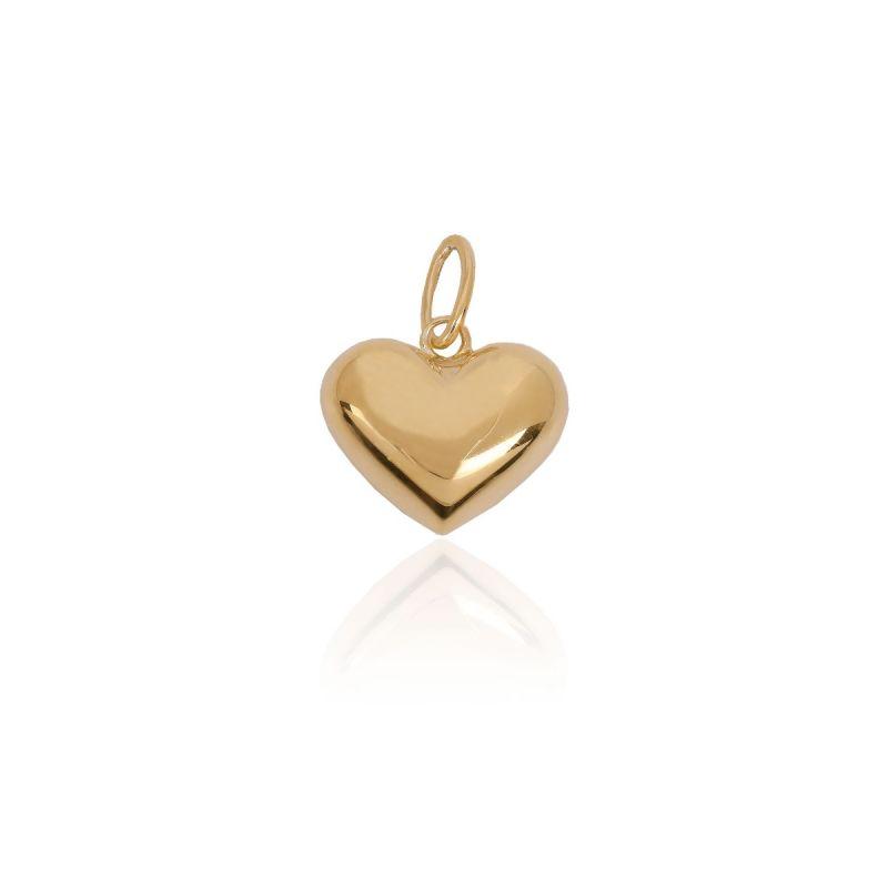 Colgante Oro y plata corazón