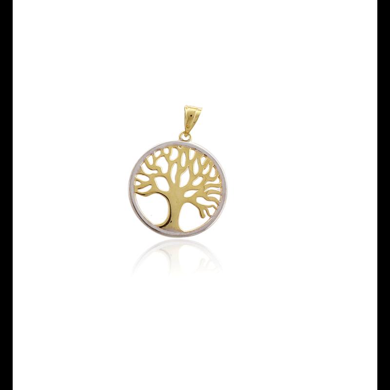 Colgante Árbol de la Vida Oro y plata