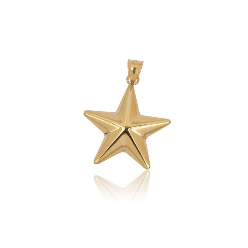 Colgante Oro y plata estrella