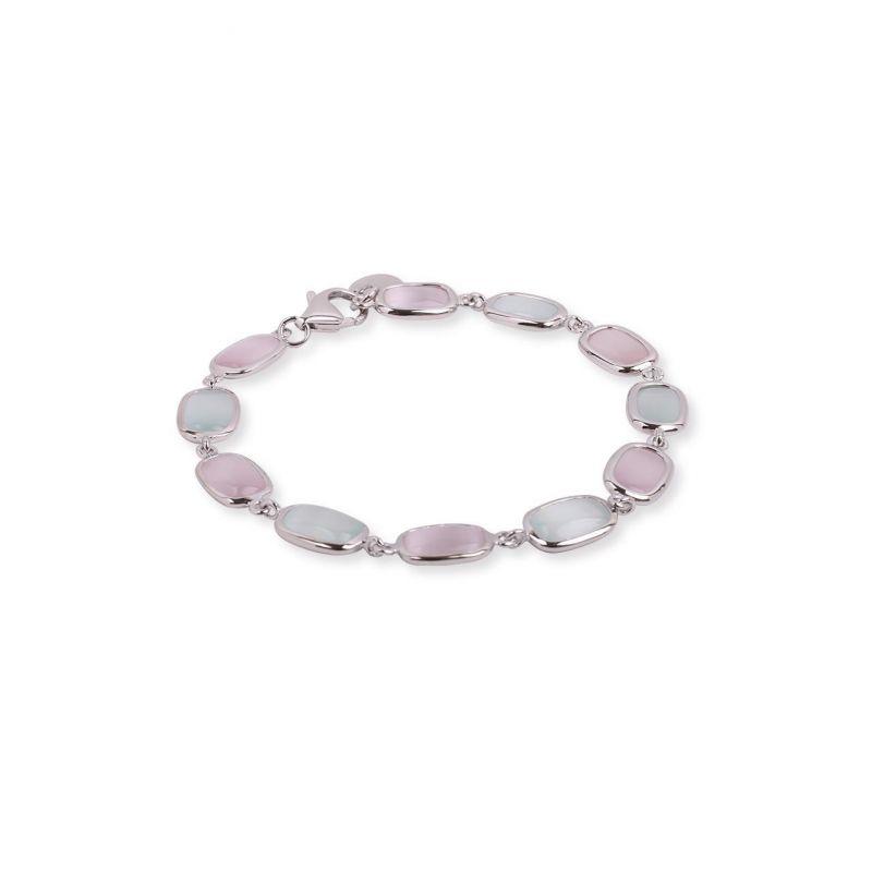 Pulsera plata piedra color Luxilver