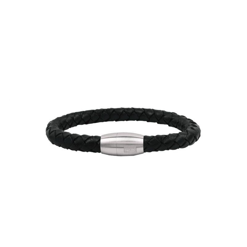 Pulsera Acero RS trenza negra
