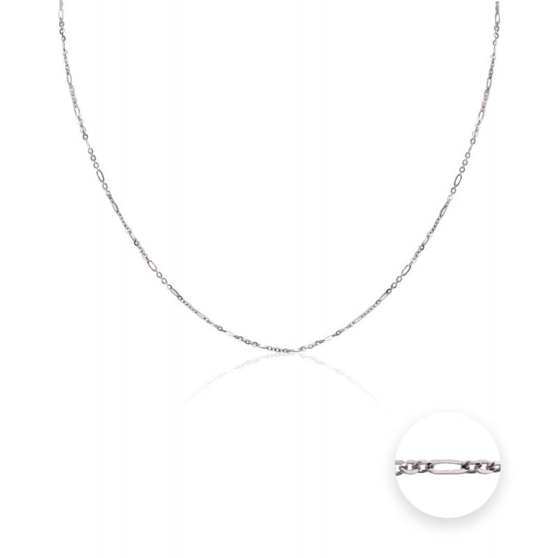 Cadena Oro blanco 18k