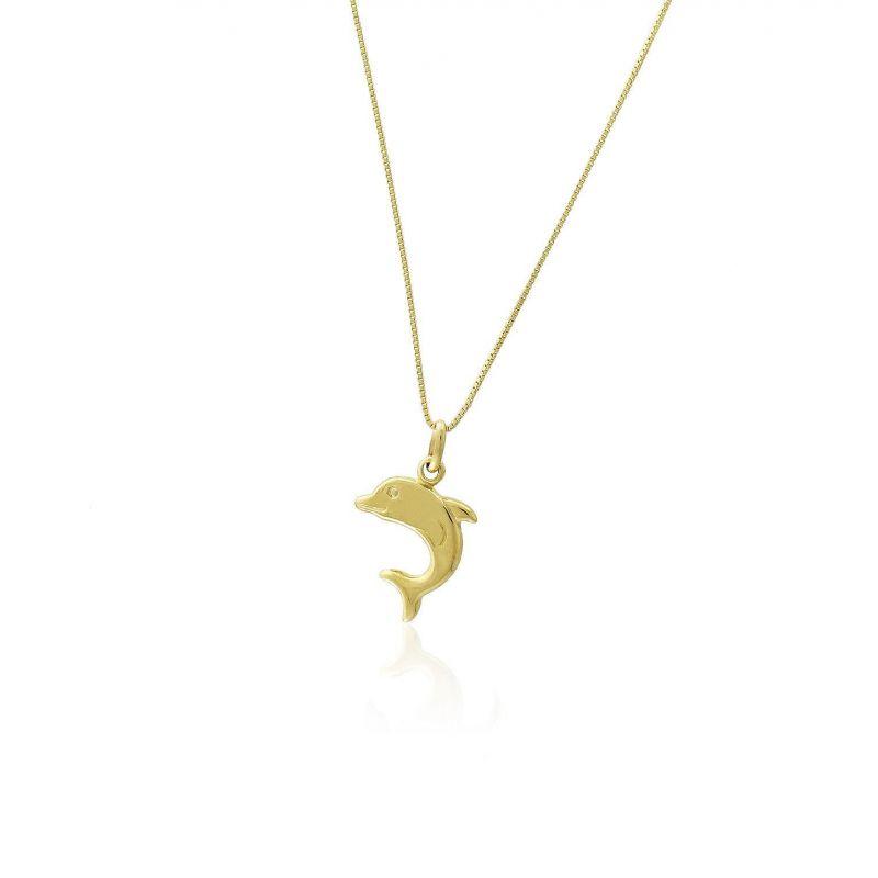 Gargantilla Oro 18kts delfín