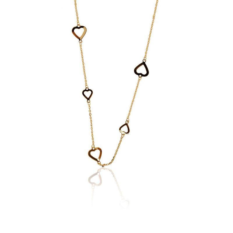 Gargantilla Oro 18k corazones