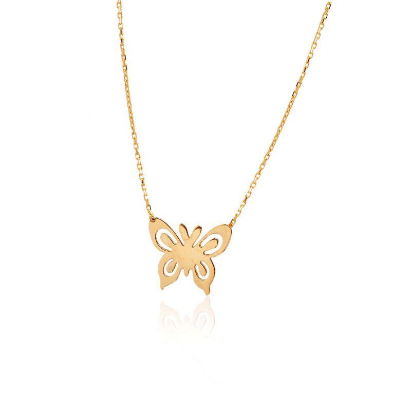 Gargantilla Oro 18k mariposa