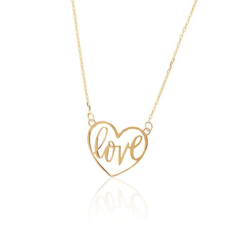 Gargantilla Oro 18k corazón love