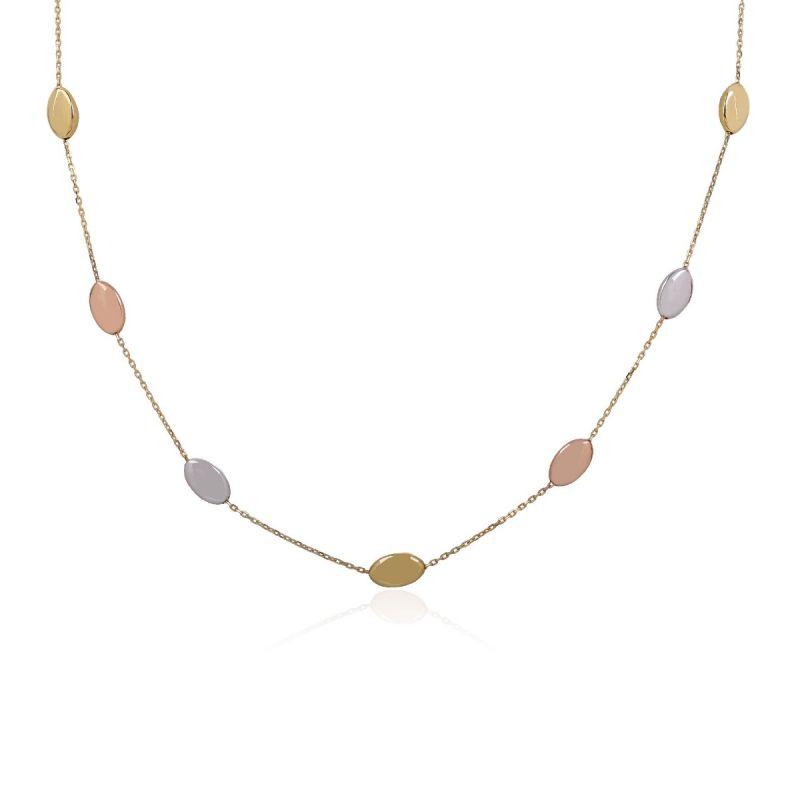 Gargantilla Oro Bicolor 18k ovales