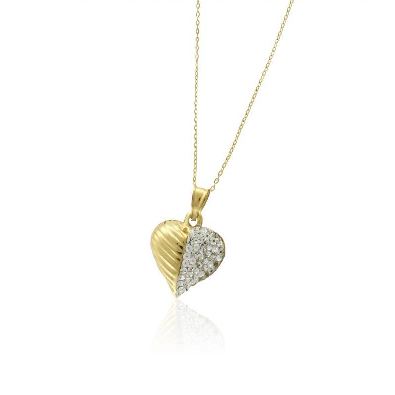 Gargantilla Oro 18 kts circonitas corazón Roselin