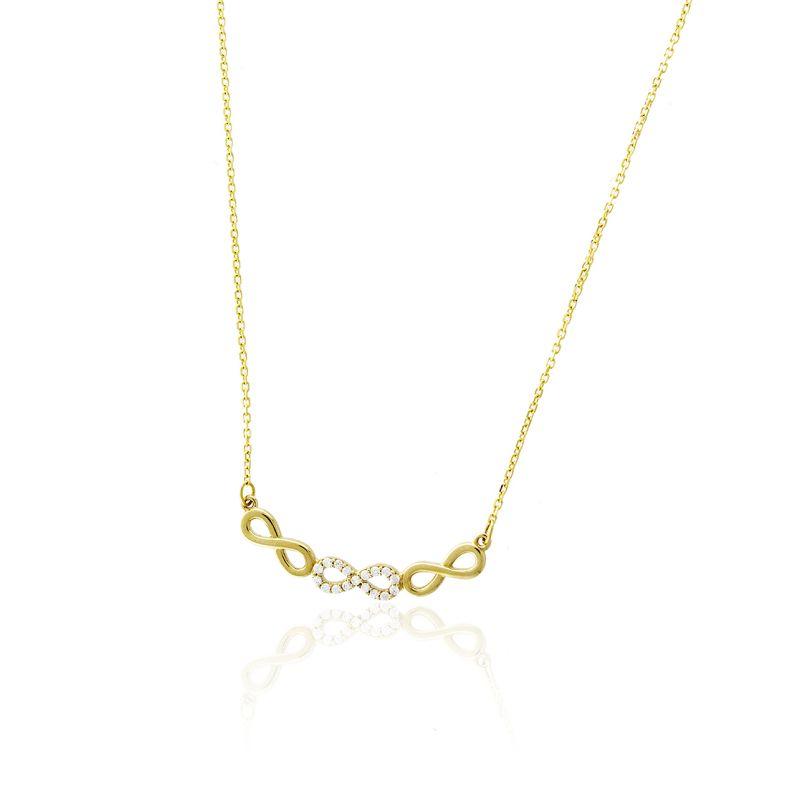 Gargantilla Oro 18k infinitos Roselin Trendy
