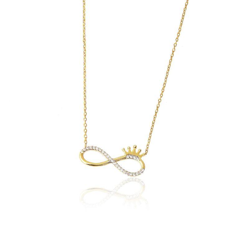 Gargantilla Oro 18k infinito corona Trendy