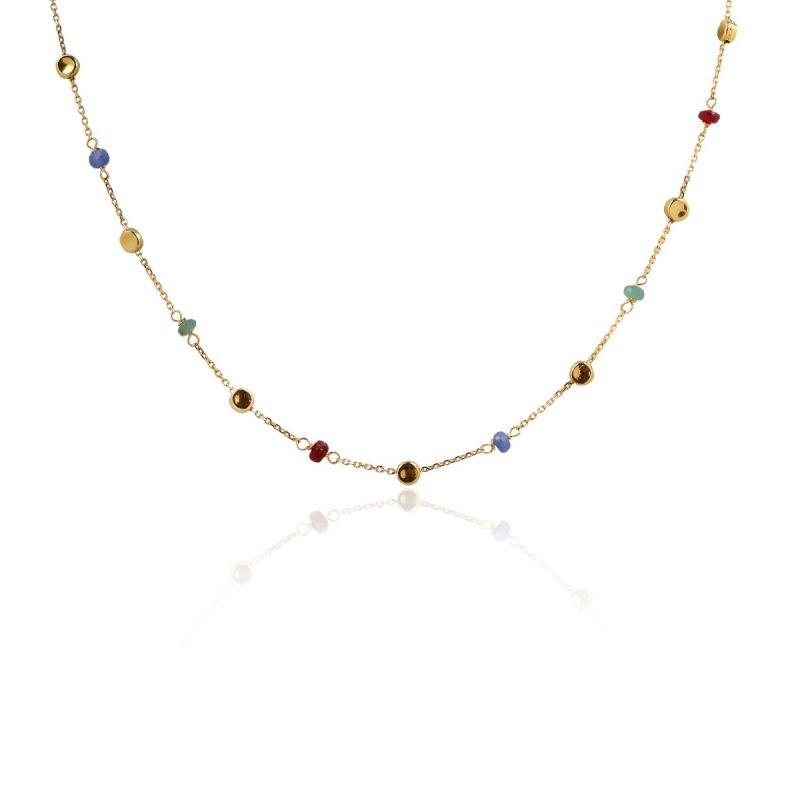 Gargantilla Multicolor Oro ley 18k