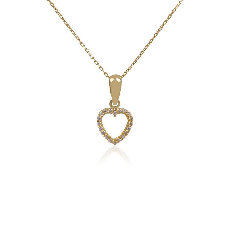 Gargantilla Oro 18k Piedras Corazón