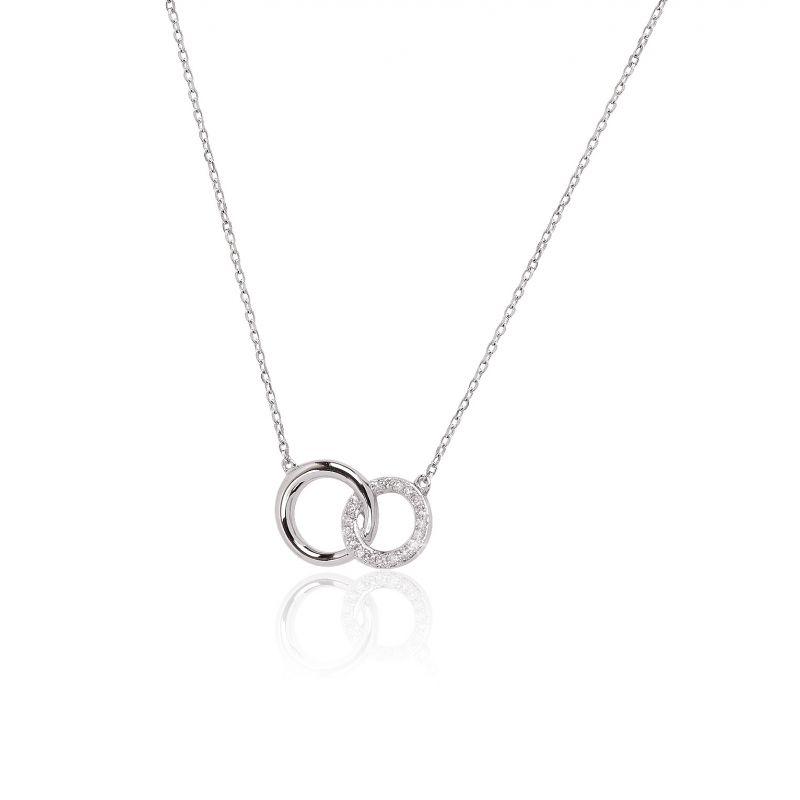 Gargantilla Oro blanco 18k y diamantes aros