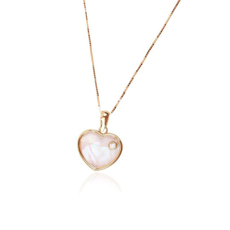 Gargantilla Oro 18k corazón diamante