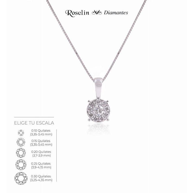 Gargantilla Diamantes Oro 18k Redonda. Elige tu escala.