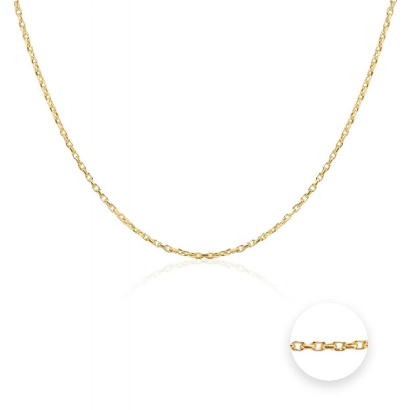 Cadena Oro 9k oval forzada