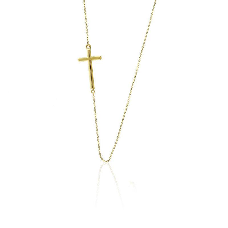 Gargantilla Oro 9k cruz Trendy