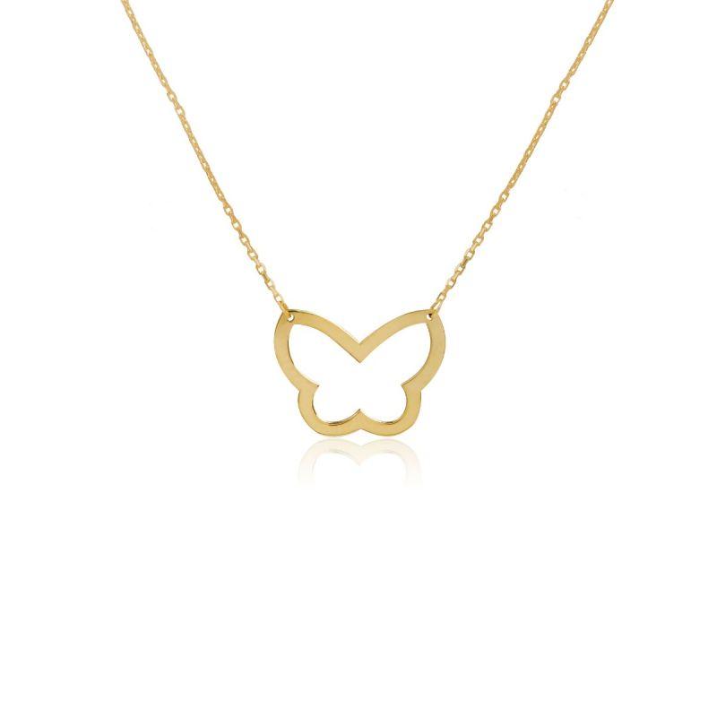 Gargantilla Oro 9k silueta mariposa