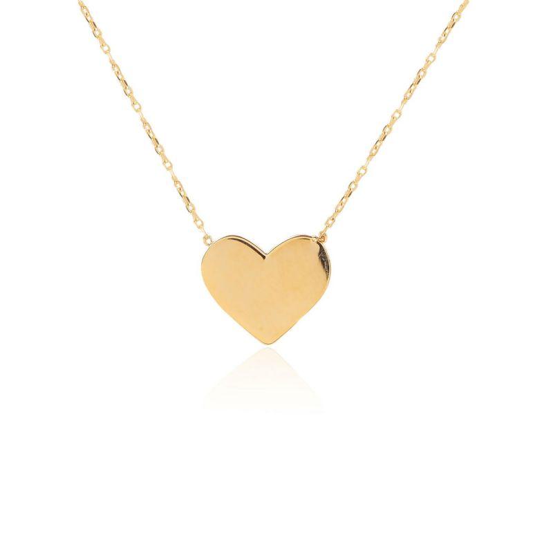 Gargantilla Corazón liso Oro 9k