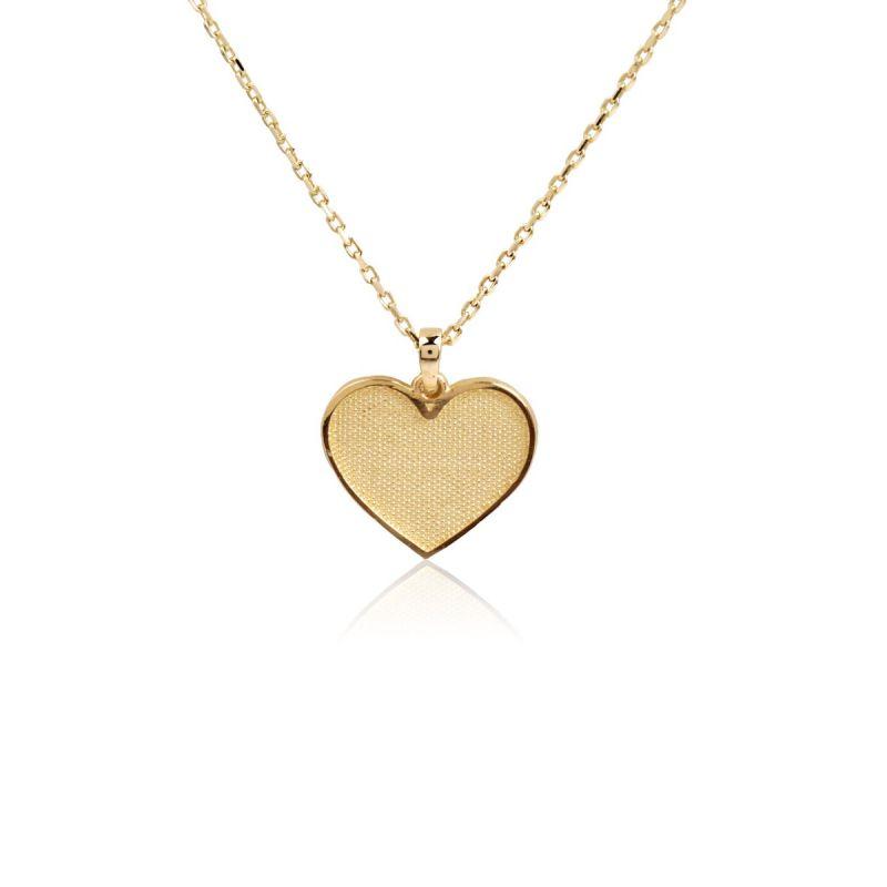 Gargantilla Oro 9k Corazón diamantado