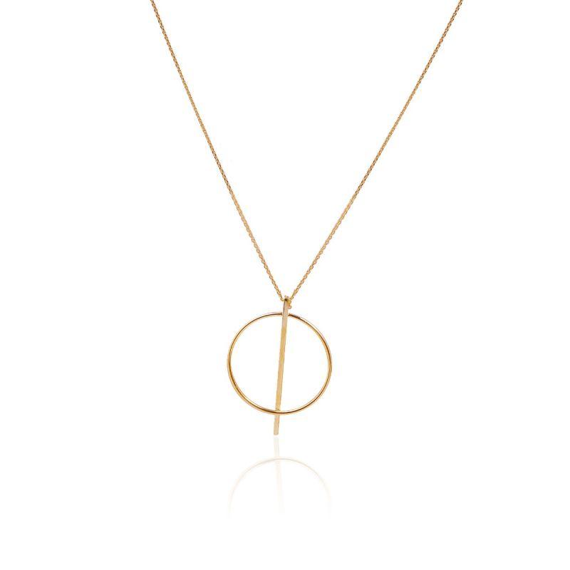 Gargantilla Oro 9k círculo y barra