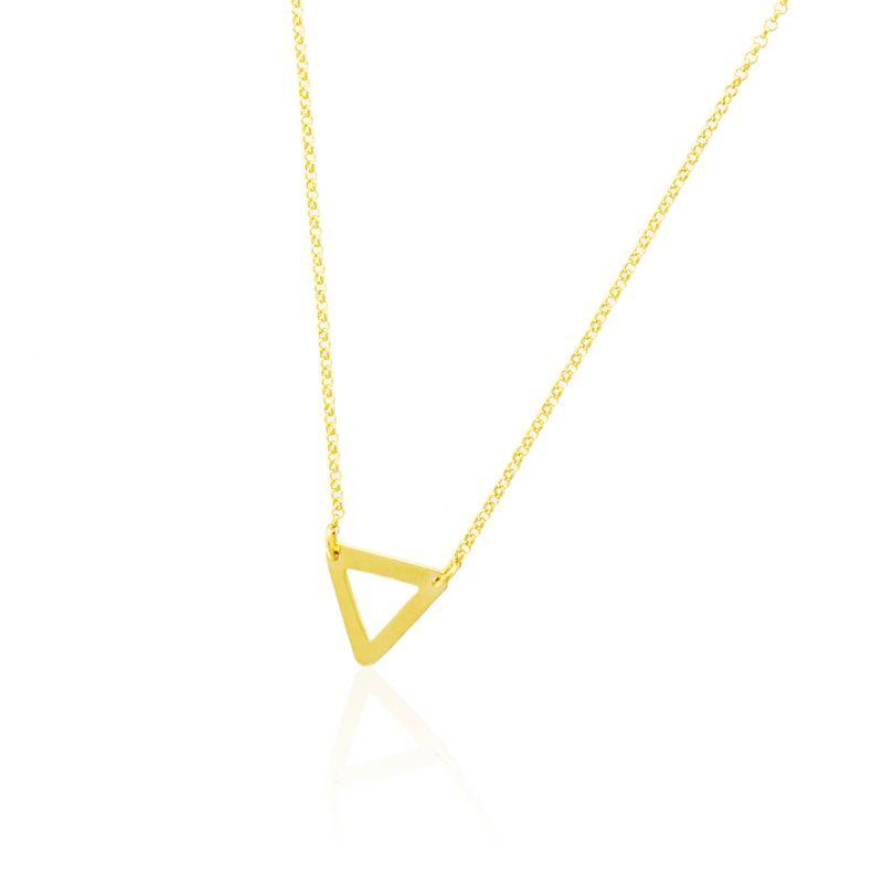 Gargantilla plata triángulo Roselin Trendy