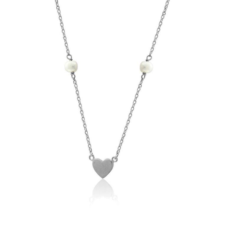 Gargantilla plata perlas Roselin