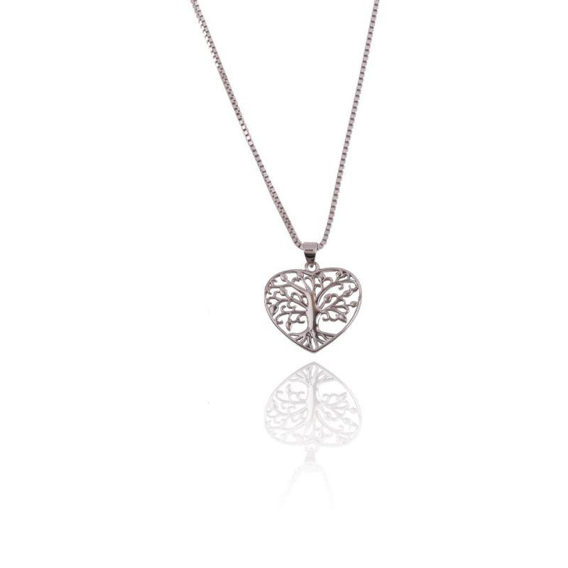 Gargantilla Plata Corazón Árbol de la Vida