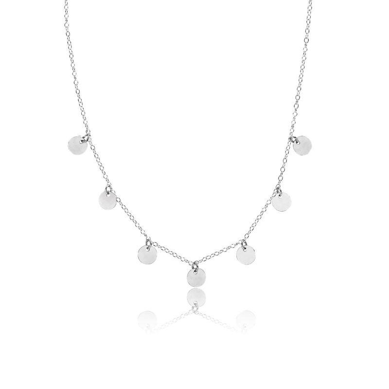 Gargantilla Chapas plata Roselin Trendy