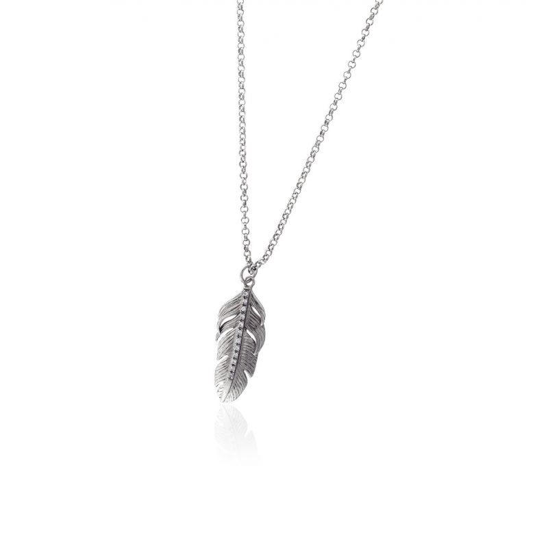 Gargantilla plata pluma Roselin Trendy