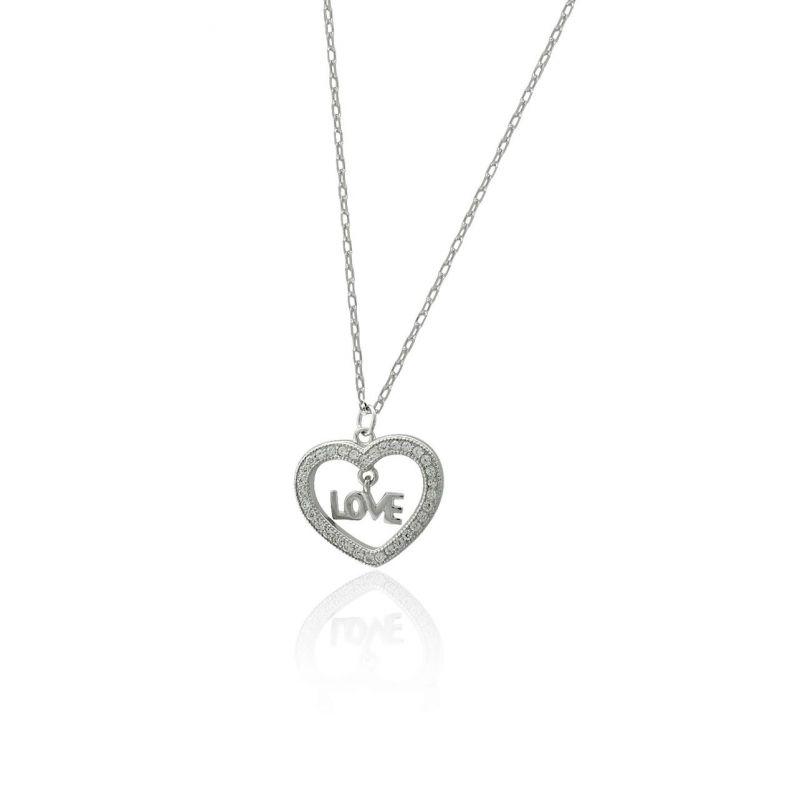 Gargantilla plata corazón love