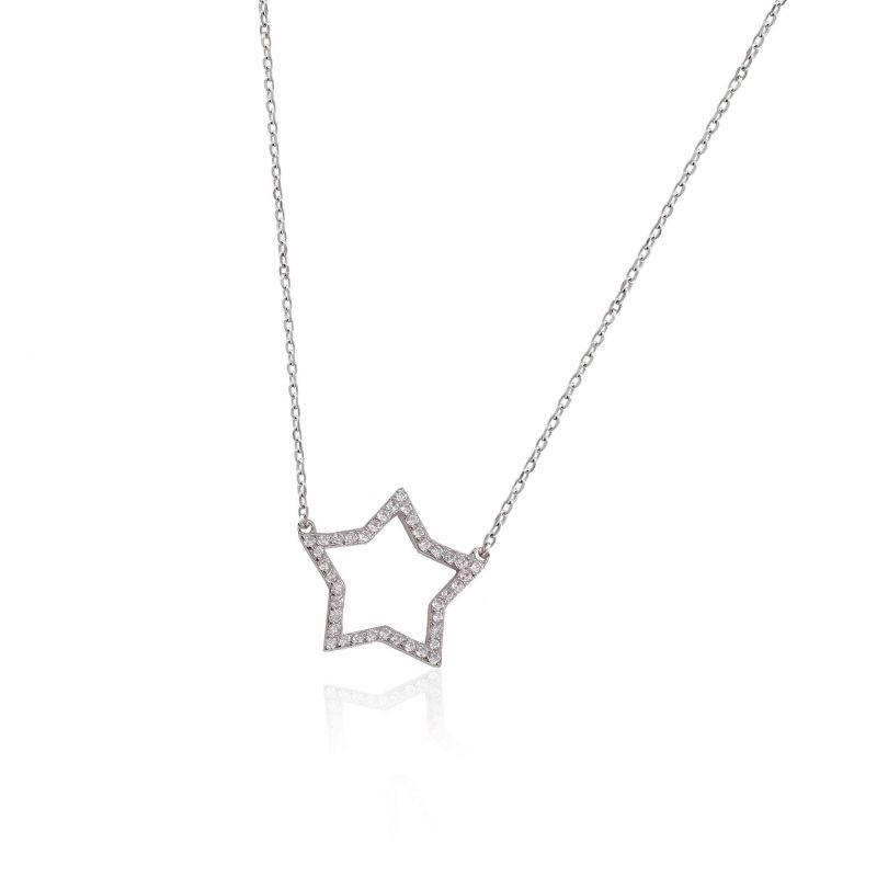 Gargantilla plata estrella