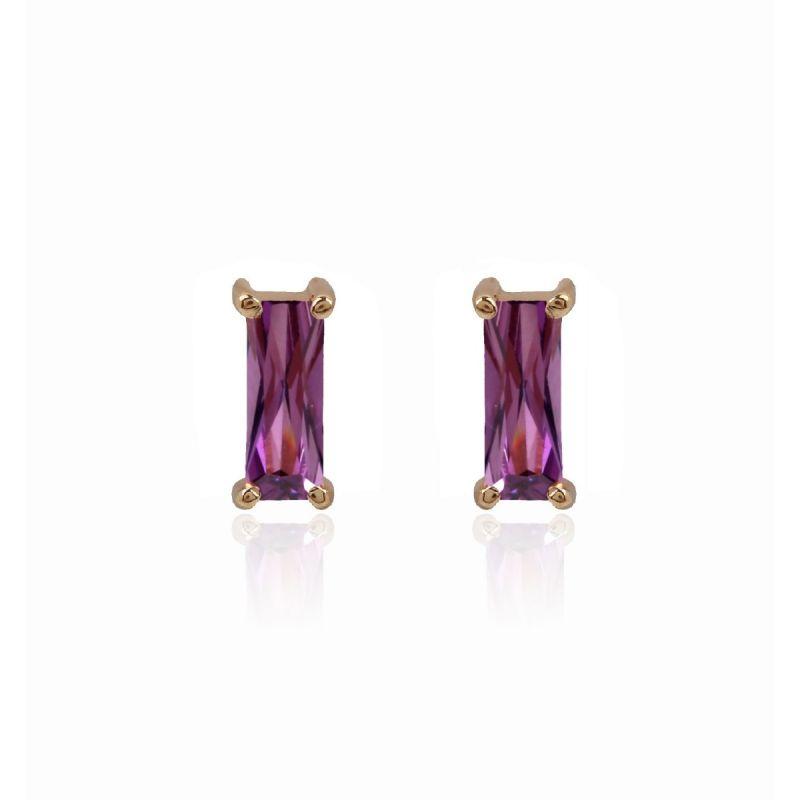 Pendientes ATLANTIS Oro 18k violetas