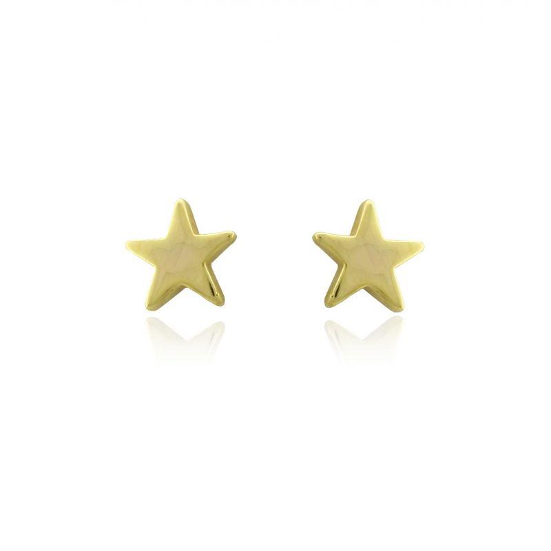 Pendientes Oro 18 kts estrella Roselin Trendy